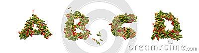 Thai chili alphabets