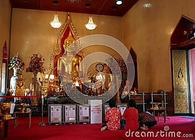 Thai Chinese People praying Editorial Photo