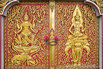 Thai church door