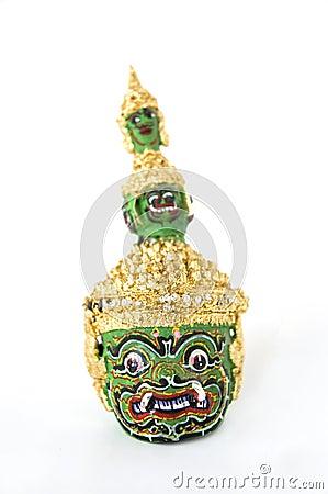 Thai classical dance giant head