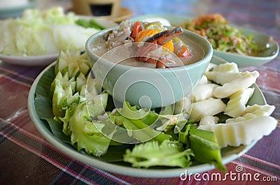 Thai Crap curd dip