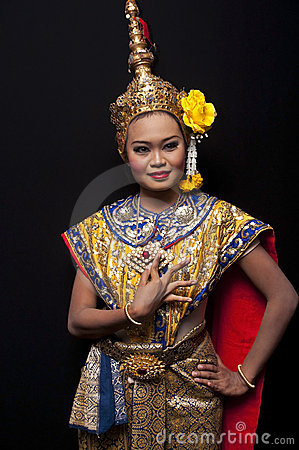 Free Thai Cultural Show Stock Image - 21112121