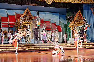Thai Culture and traditional dances show Editorial Image