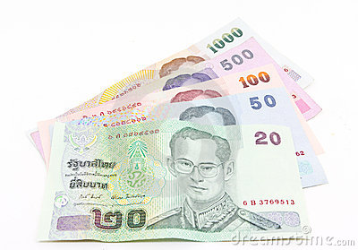Thai currency banknote