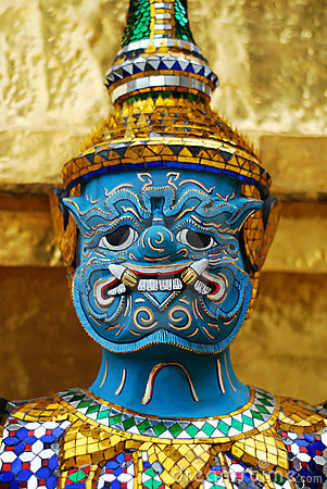Thai Demon Royalty Free Stock Photo - Image: 12469825