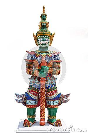 Thai Demon Warrior Stock Photos Image 19181863