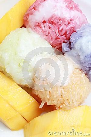 Thai Dessert named Sticky Rice Mango