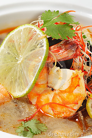 Free Thai Dishes - Tom Yam Kung Royalty Free Stock Photo - 10559275
