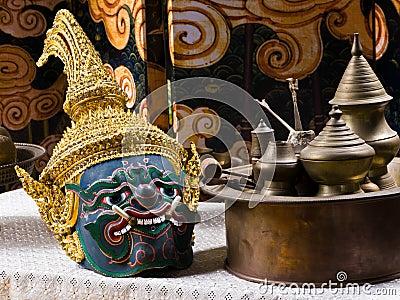 Thai drama mask