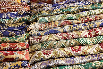 Thai fabric stack