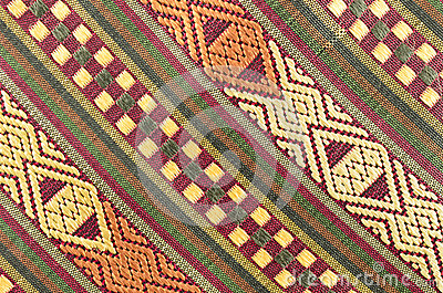 Thai fabrics patterns