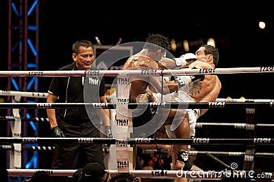 Thai Fight Editorial Stock Photo