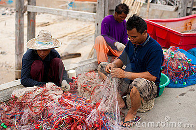 Thai Fishermen Editorial Image