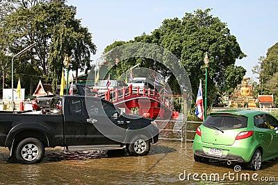 Thai flood 06 Editorial Photo