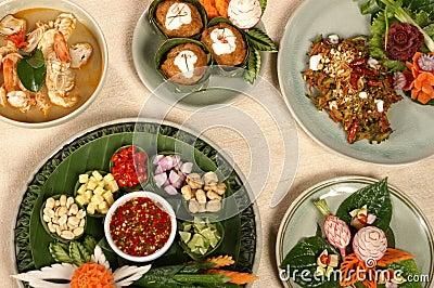 Thai food set for health