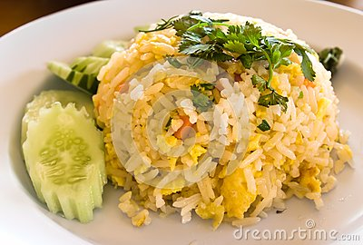 Thai food fried rice