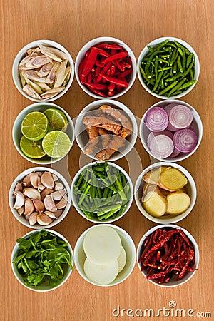 Free Thai Food Ingredients Stock Photography - 19758642