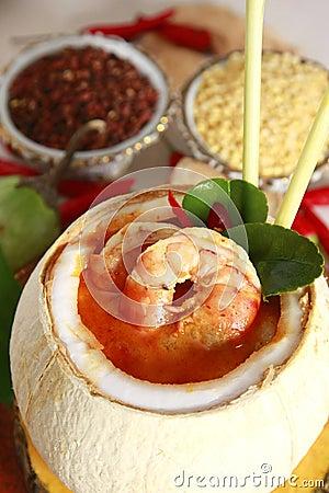 Thai food, shrimp soup