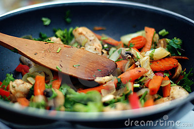 Thai Food Stir Fry Stock Photography Image 417762