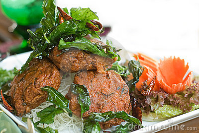 Thai food: Tod Man Pla