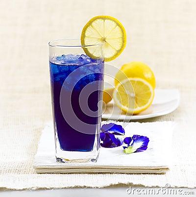 Thai fresh herb juice, Pea flowers