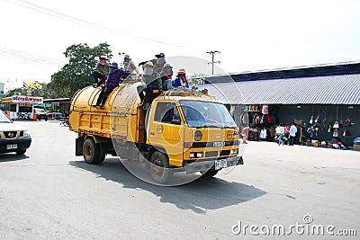 Thai garbage truck Editorial Photo