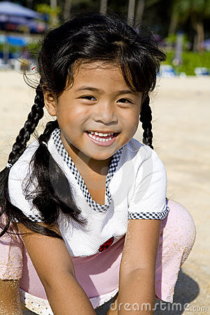 Thai girl on beach