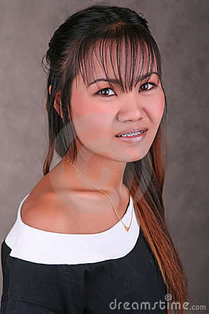 Thai girl with braces