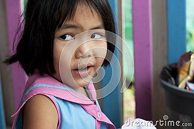 Thai girl in the kindergarten Editorial Photography