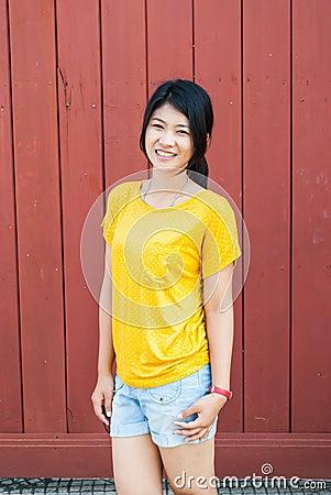 Thai Girl in Natural Acting