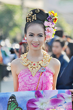 Thai girl smile Editorial Stock Image