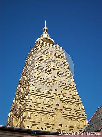 Thai golden Bodh Gaya in Sangkhlaburi