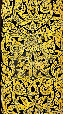 Thai golden painting art