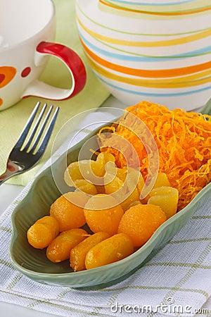 Thai golden sweetmeat
