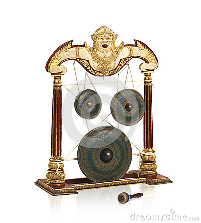 Thai gong musical instrument
