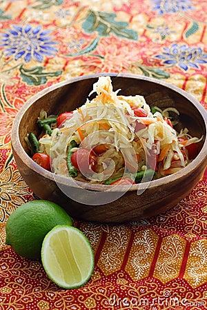 Free Thai Green Papaya Salad Royalty Free Stock Photos - 9935748