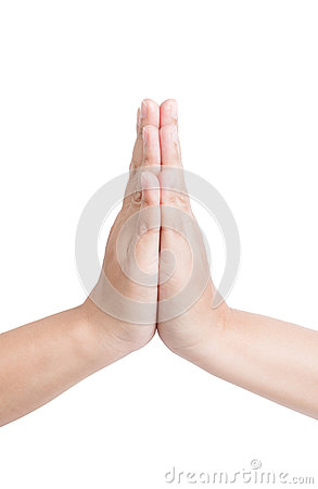 Free Thai Greeting Hand Sign Royalty Free Stock Photography - 76897507
