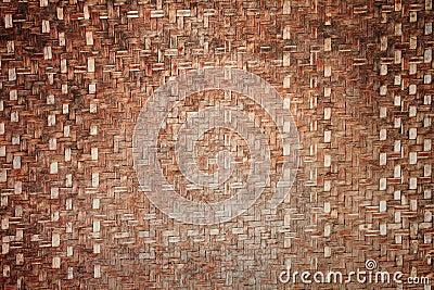Thai handicraft of bamboo weave pattern