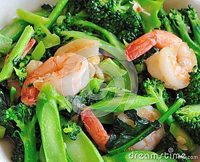 Thai healthy food stir-fried broccoli