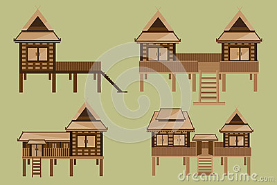 House plans thai style house and home design for Thai style house plans