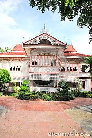 Thai house traditional style (Vongburi House) in Phrae, Thailand