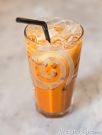 Free Thai Ice Tea Royalty Free Stock Photo - 74050155