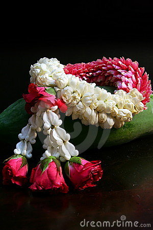 Thai Jasmine Garland Royalty Free Stock Images - Image: 1046279