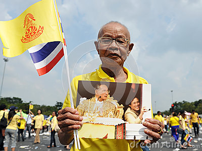 Thai Kings 85th Birthday Editorial Stock Photo