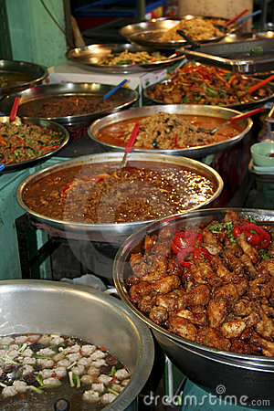 Thai kitchen spicy asian street food buffet