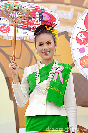 Thai lady Editorial Photo