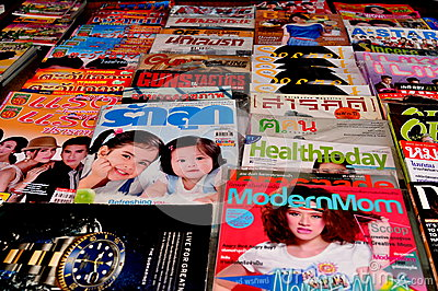 Thai Magazines Editorial Stock Image