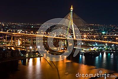 Thai Mega Sling Bridge in Thailand.