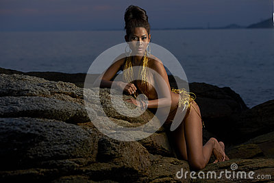 Thai Model at Sunset