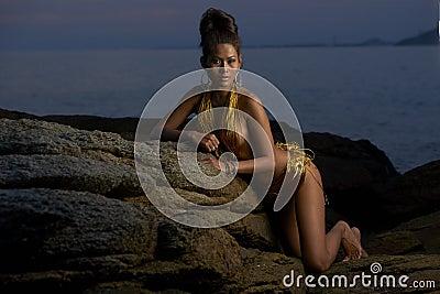 Thai Model at Sunset